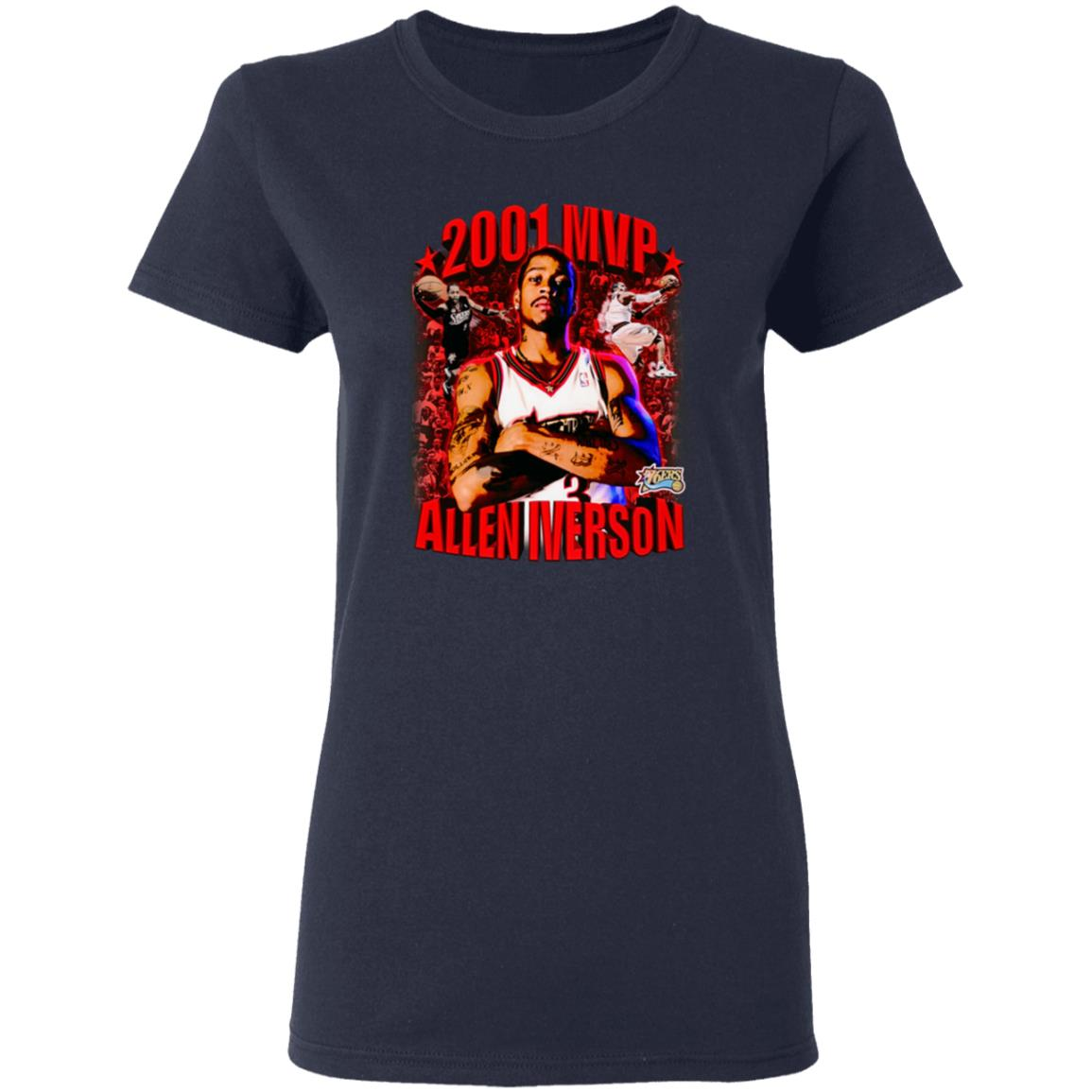2001 Allen Iverson Mvp T Shirt AM Vintage