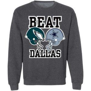 Nick Sirianni Beat Dallas Helmet Logo Sweatshirt John Clark